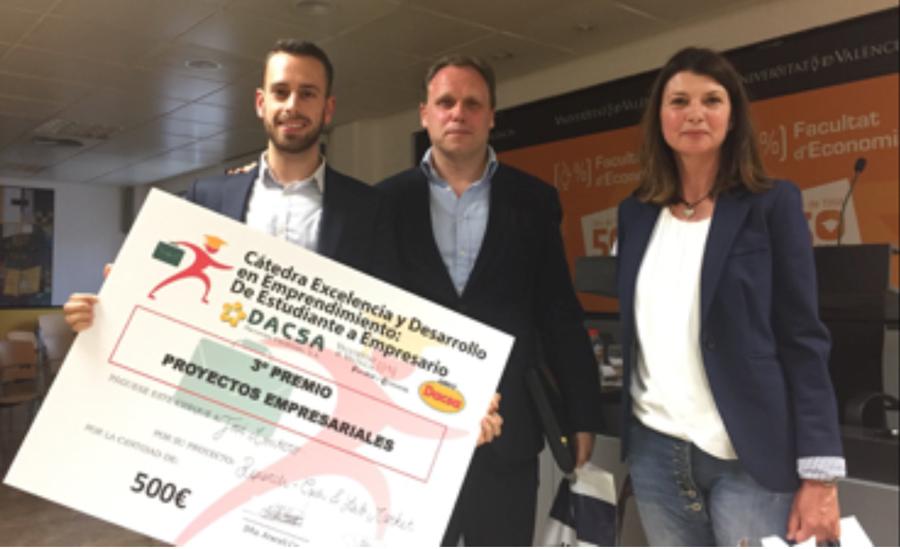 """R+ Cash Lab premio de la Cátedra """"Excelencia y Desarrollo en Emprendimiento: De estudiante a Empresario"""" de la Universidad de Valencia"""